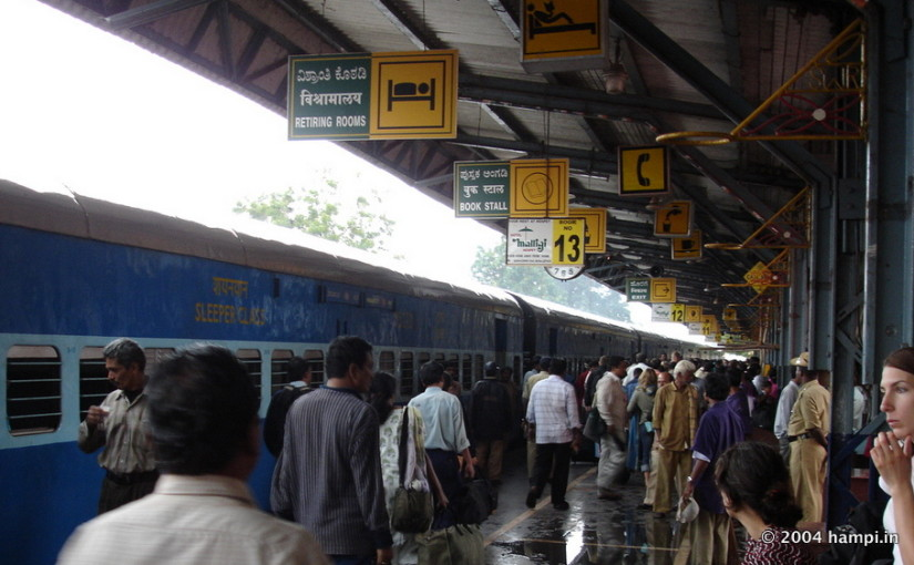 Hampi Express in Hospet Railway Station