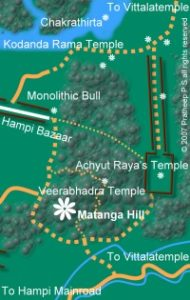 Access map for Matunga Hill