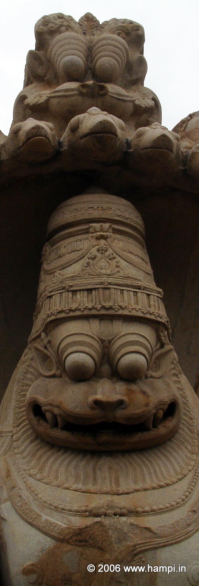 The iconic image of Narasimha at Hampi