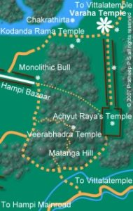 Location map for Varaha Temple