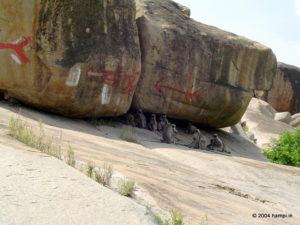 Cautious Bouldering at Hampi