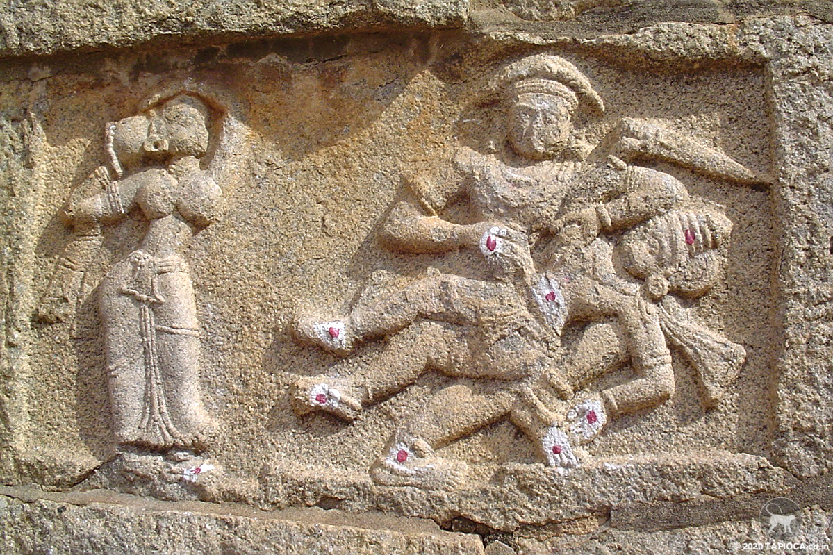 A panel on the Bhima's Gate