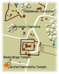 Badavilinga , Sasivekalu, Kadalekallu location map