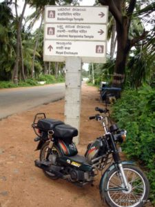 There are many moped rental places in Hampi