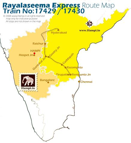 Rayalaseema Express connects Hyderabad with Tirupati