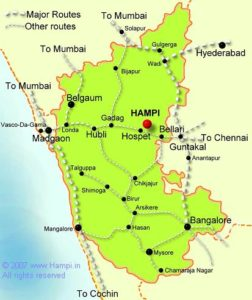 Distance to Hampi