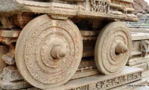 Wheels of Stone Chariot in Hampi