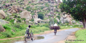 Farmer and son in Hampi
