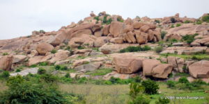 Watch Tower atop Boulders in Hampi